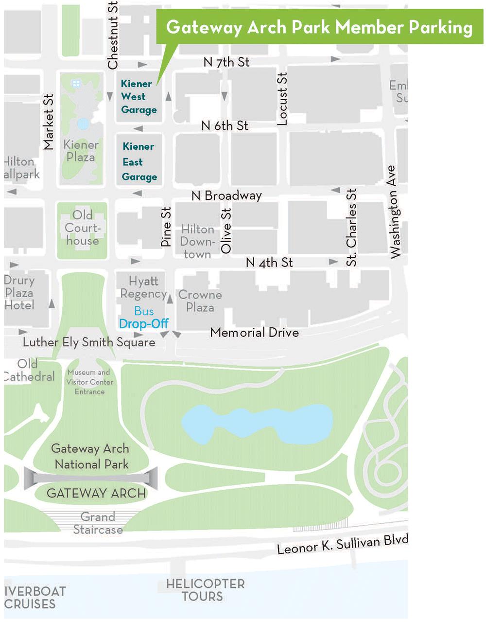 Interpark parking map