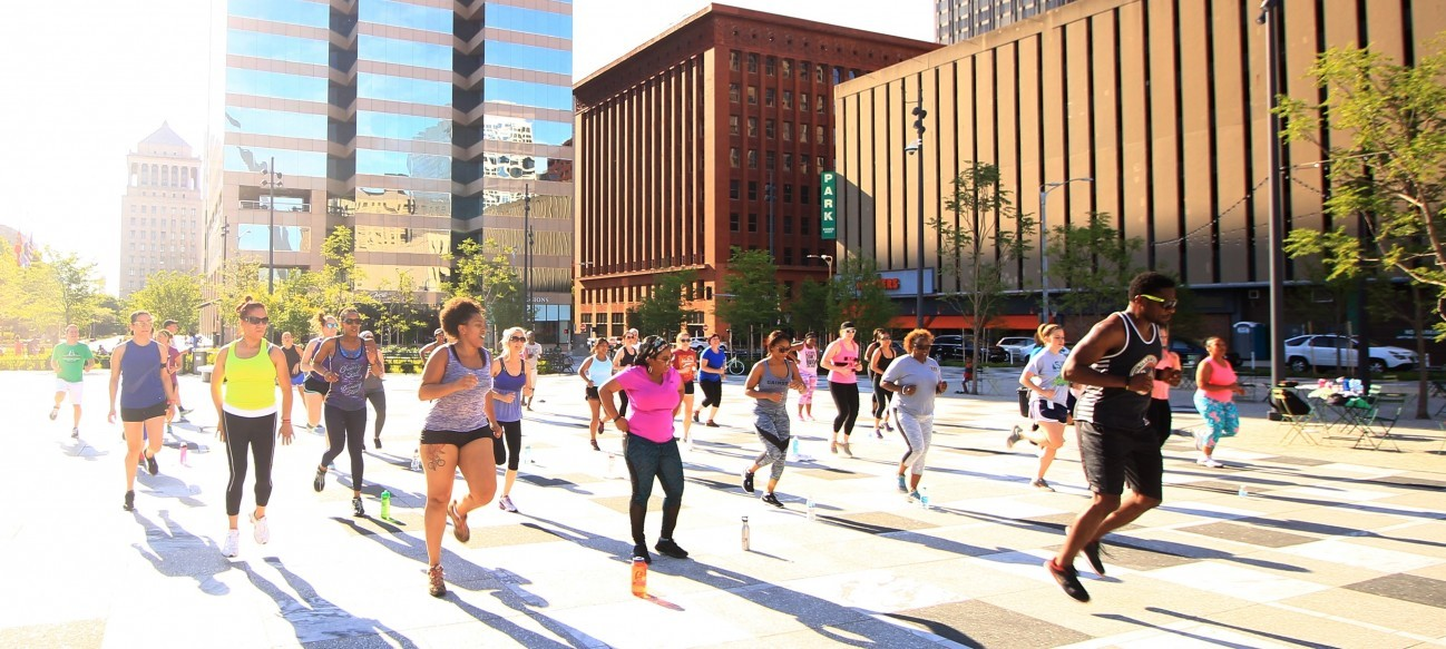 The newly expanded and renovated Arch park grounds and Kiener Plaza are great places to exercise and stay fit! Gateway Arch Park Foundation offers a free Health & Wellness Series that is open to the public.