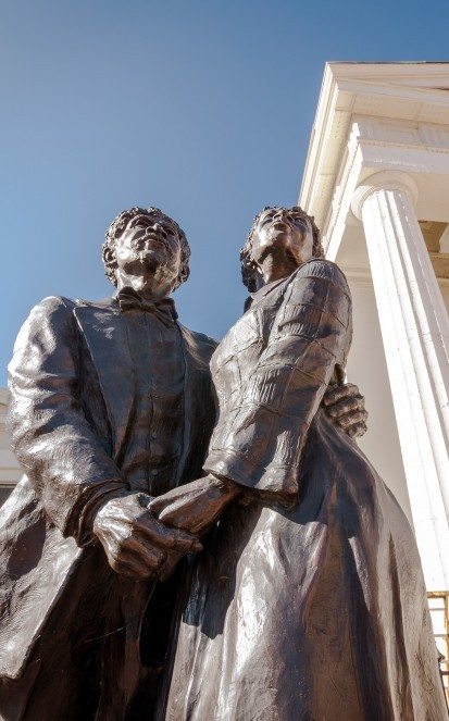 Statues at the courthouse