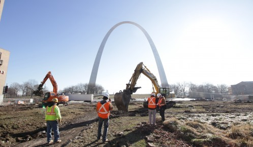 Construction at the Arch