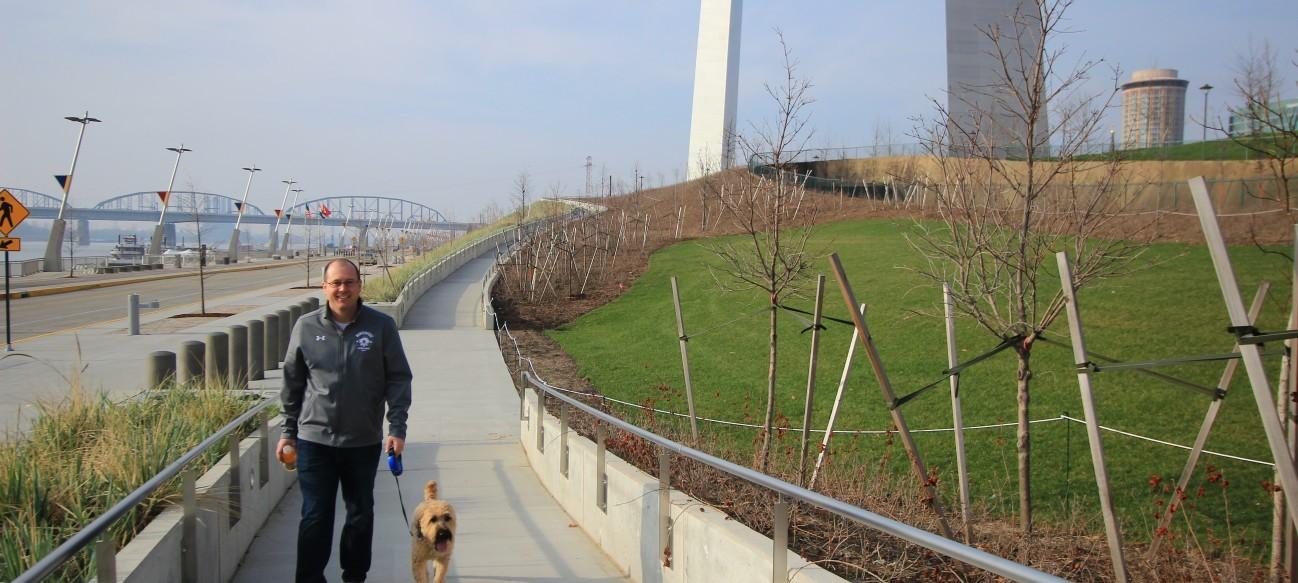 The 1.5-mile Riverfront promenade