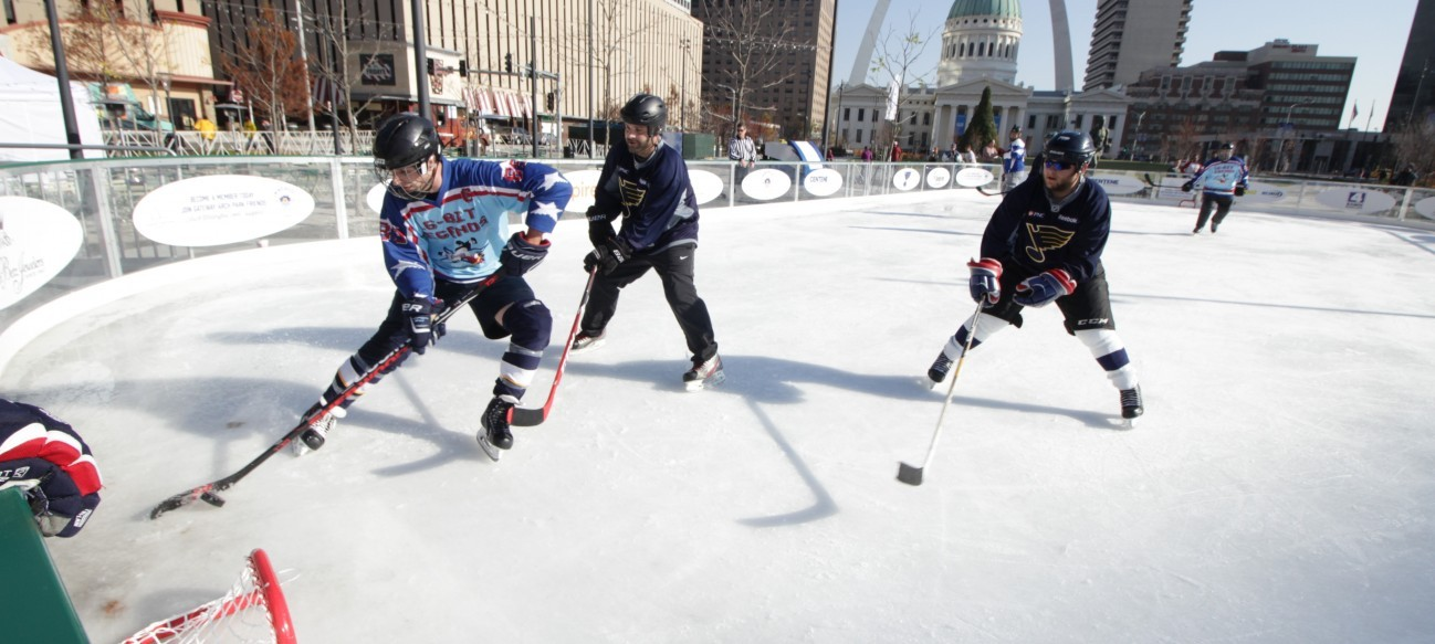 The Gateway Arch Park Foundation partners with the St. Louis Blues and the local community to present a full slate of activities at Winterfest at the Arch, including a family-friendly New Year's Eve skate, a holiday market and more.