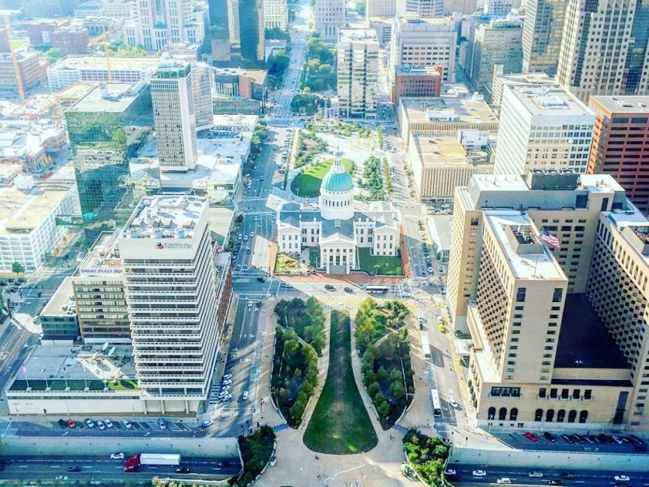 The View From The Top of The Gateway Arch