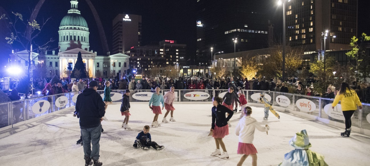 Winterfest at the Arch is a series of events designed to celebrate our most famous St. Louis icon with ice skating and more in the Gateway Arch park and at Kiener Plaza.