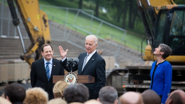 Joe Biden visits the CityArchRiver project